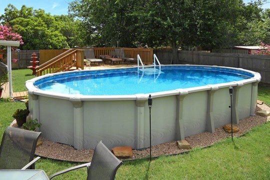 Watson 39 s pool - Above ground oval swimming pools for sale ...