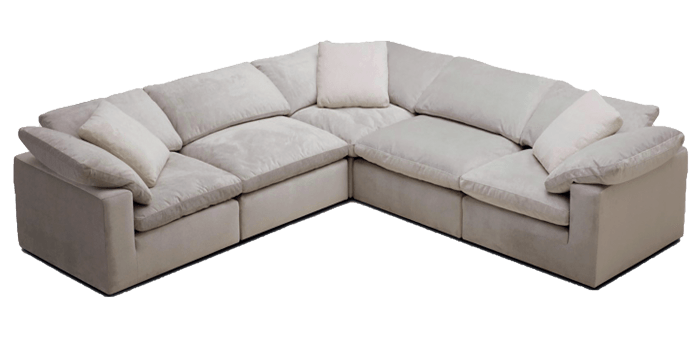 Dream Cloud 5 Piece Modular Sectional, Cloud Sectional Sofa
