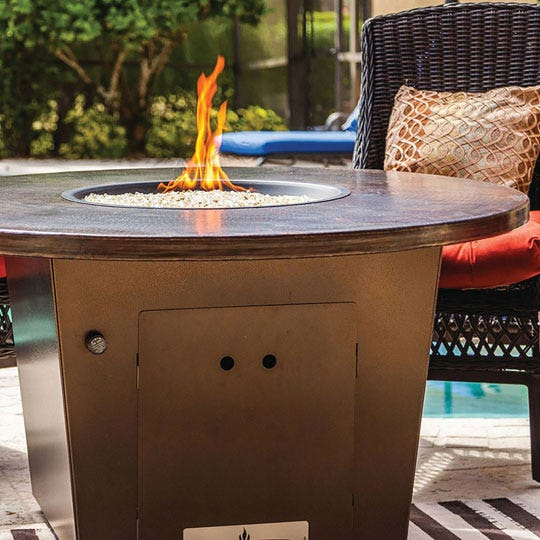 Outdoor firepit set