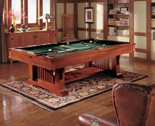 Billiards table in study