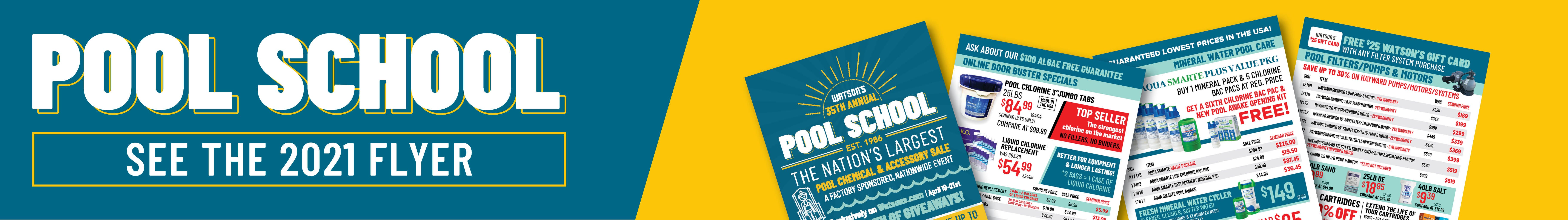 See the Watson's Pool School 2021 Flyer