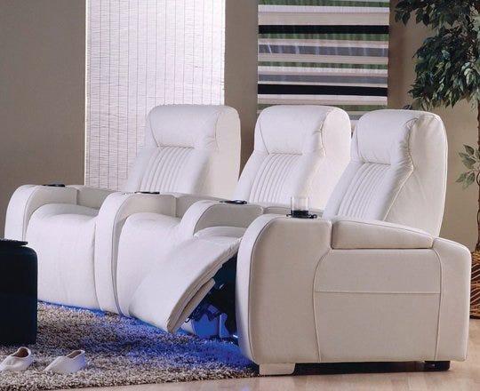 White home theater set