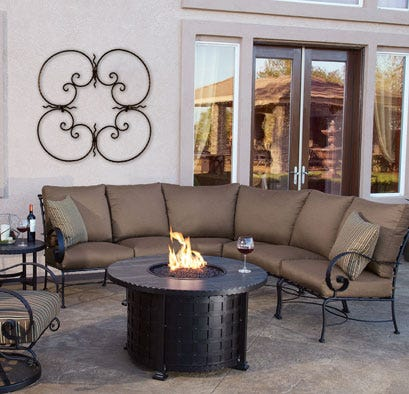 Firepit with sectional