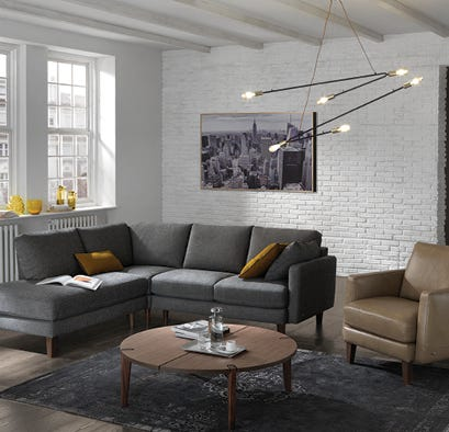 Modern sectional in a living room