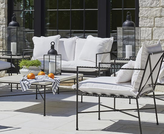 Contemporary outdoor furniture on a patio