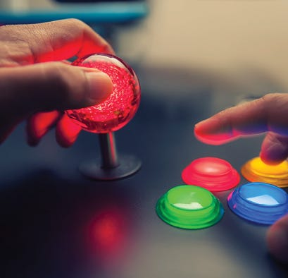 Arcade game close-up