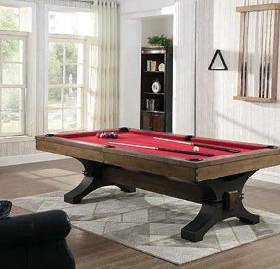 Billiard table in living space