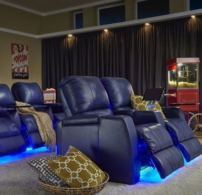 Cozy home theater seating