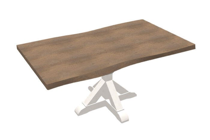 Bermex dining table with wood top and white base