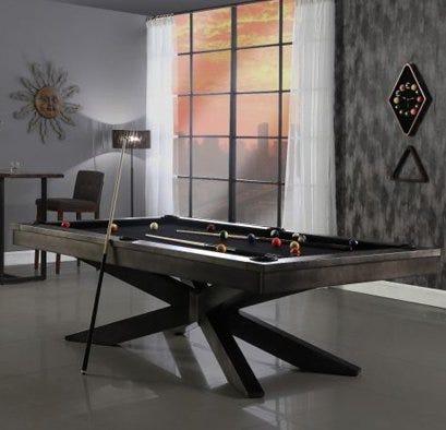 Steel Plank & Hide pool table