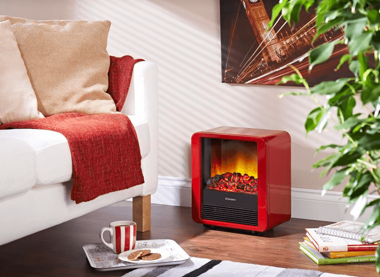 Red Dimplex Mini Cube Electric Stove