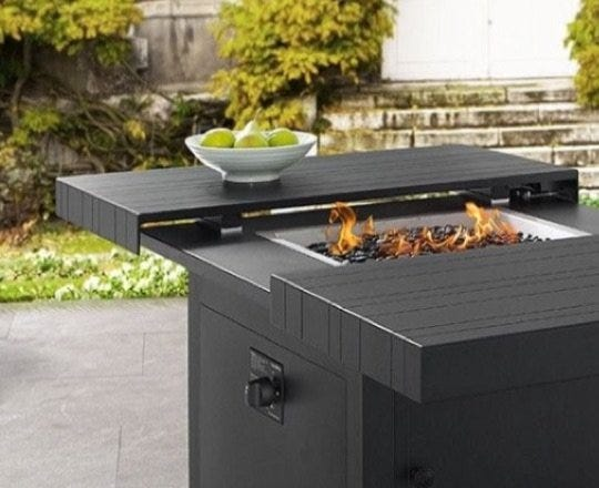 Fire pit on a patio