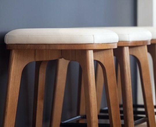 Bar stools at counter