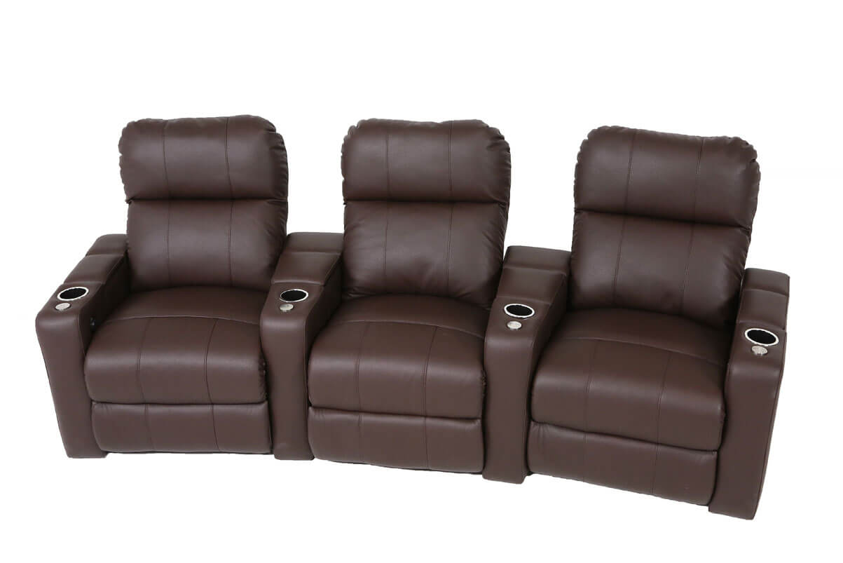 Genoa 3-Seat Home Theater Group