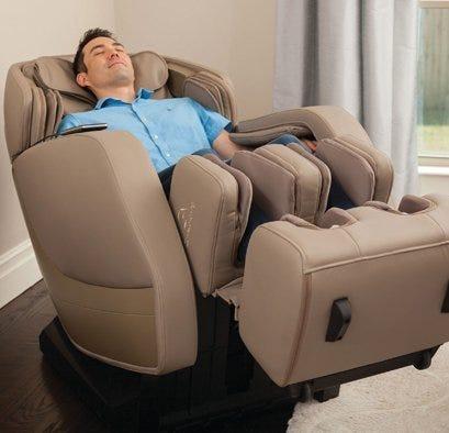 Man in massage chair